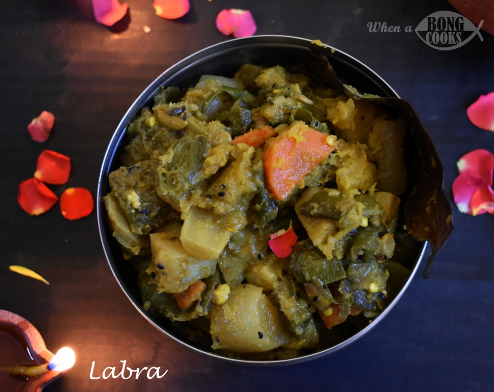 db673b5010e58 Labra (Bengali Style Mixed Vegetable) – When A Bong Cooks