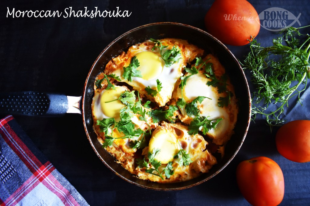 Moroccan Shakshouka (Eggs Poached in Tomato Sauce)