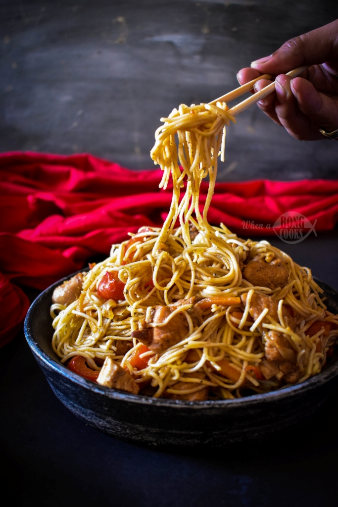 Street Food Style Chicken Chow Mein